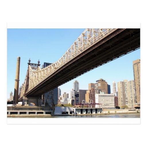 Queensborough Bridge and Manhattan Postcard