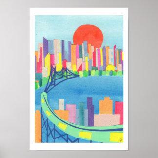 Queensborough Bridge at Sunrise Poster