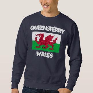 Queensferry, País de Gales con la bandera Galés Suéter