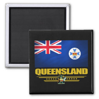 Queensland 2 2 inch square magnet