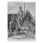 Queensland aborigines engraved from a photograph cards