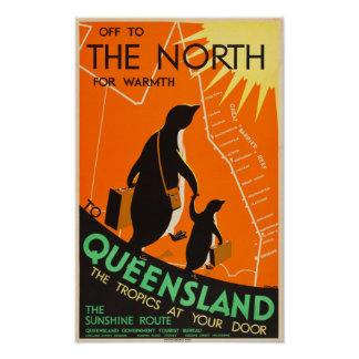 Queensland, Australia Travel Poster