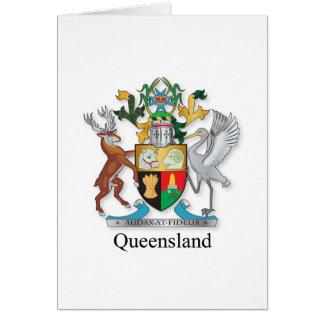 Queensland coat of arms card