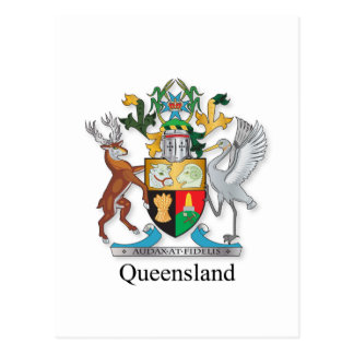 Queensland coat of arms post cards