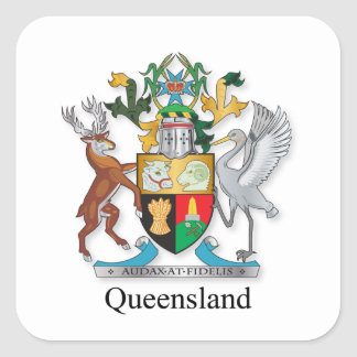 Queensland coat of arms square sticker