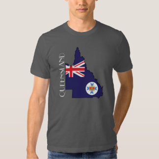 Queensland Flag-Map Shirt