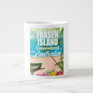 Queensland Fraser Island travel poster Giant Coffee Mug