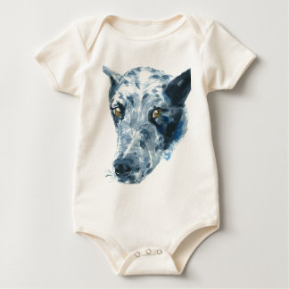 QueensLand Heeler Dog Baby Bodysuit