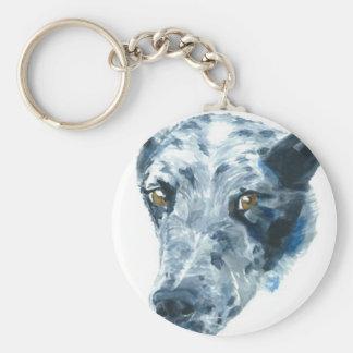 QueensLand Heeler Dog Keychain
