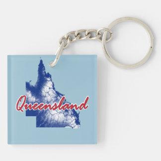 Queensland Llavero Cuadrado Acrílico A Doble Cara