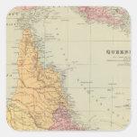 Queensland Pegatina Cuadrada