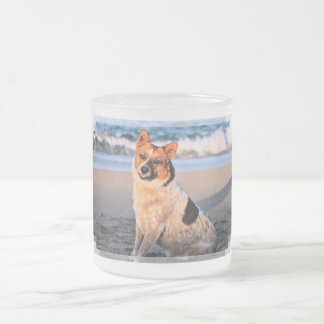 Queensland Red Heeler - Lucy Frosted Glass Coffee Mug