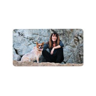 Queensland Red Heeler - Lucy Label