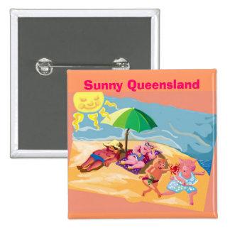 Queensland soleado pin cuadrado
