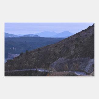 QUEENSTOWN MOUNTAIN VIEW TASMANIA AUSTRALIA RECTANGULAR STICKER