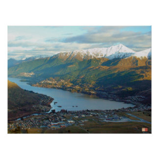 Queenstown Mountainview New Zealand Poster