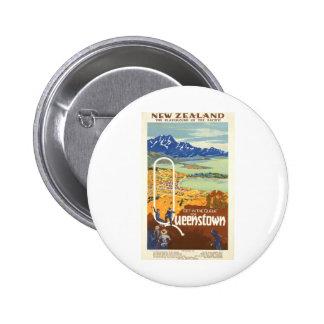 Queenstown, viaje del vintage de Nueva Zelanda Pin