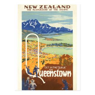 Queenstown, viaje del vintage de Nueva Zelanda Postal