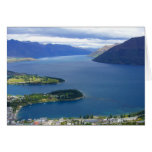 queenstown view greeting cards