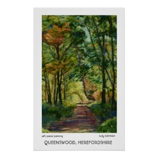 Queenswood, Herefordshire Poster print