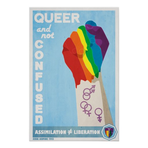 Queer and Not Confused Posters
