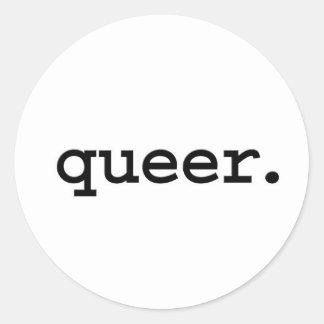 queer. classic round sticker