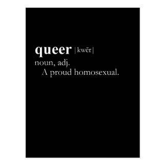QUEER (definition) Postcard