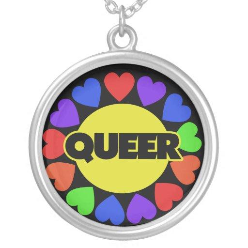 Queer Gay pride Round Pendant Necklace