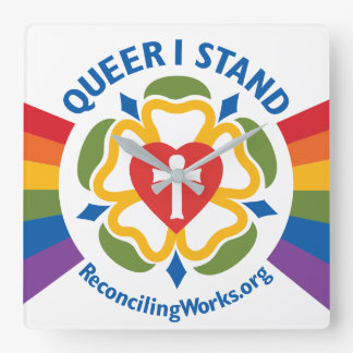 """""""Queer I Stand"""" clock"""