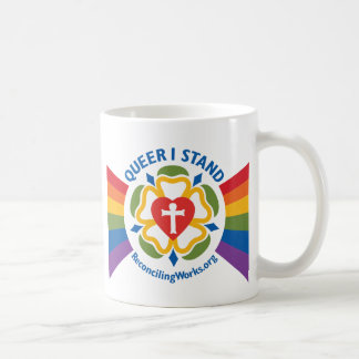 """""""Queer I Stand"""" mug"""