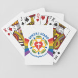 "&quot;Queer I Stand&quot; playing cards<br><div class=""desc"">Show your Lutheran pride with this queer take on an iconic saying from Martin Luther. Perfect for LGBTQ Pride season!</div>"