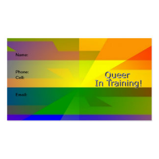 """Queer In Training"" Card Business Card"