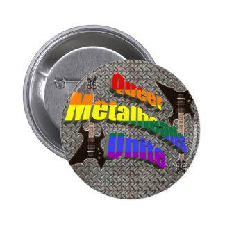 Queer Metalheads Unite Pinback Buttons