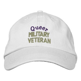 Queer Military  Veteran Embroidered Hats