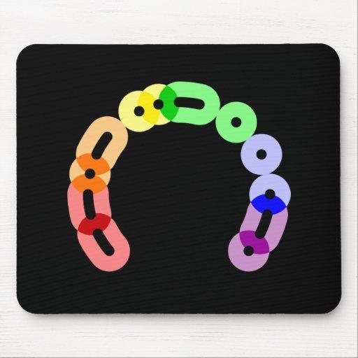 Queer Morse Code Arc Mousepad