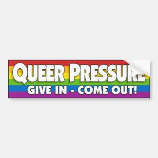 Queer Pressure Bumper Sticker