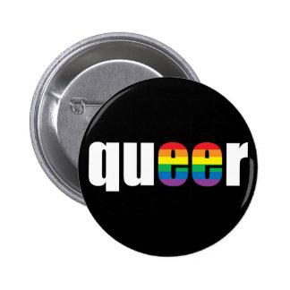 Queer Pride Black Button