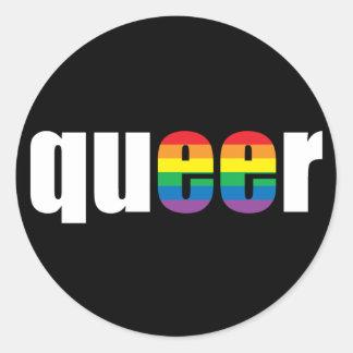 Queer Pride Black Sticker