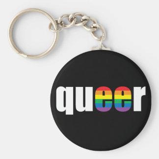 Queer Pride Blck Keychain
