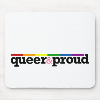 Queer&proud White Mousepad