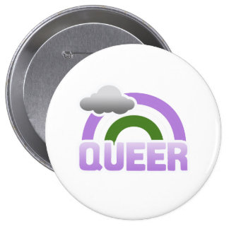 QUEER RAINBOW PINBACK BUTTONS