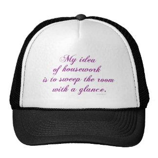 Quehacer doméstico gorra