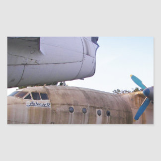 Queing never to fly again. rectangular sticker
