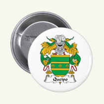 Queipo Family Crest Button