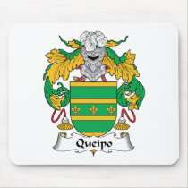 Queipo Family Crest Mousepad