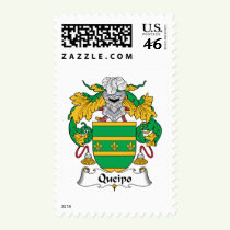 Queipo Family Crest Stamps