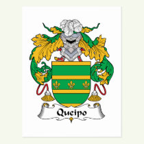 Queipo Family Crest Postcard
