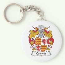 Queiros Family Crest Keychain