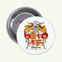 Queiros Family Crest Button