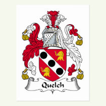 Quelch Family Crest Postcard